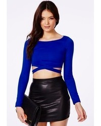 Blue cropped sweater original 4661954
