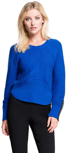 854614238c4adb ... Blue Cropped Sweaters 1 STATE Cropped Pullover Sweater