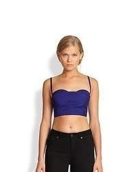 Acne Studios Rue Cropped Bustier Top Blue