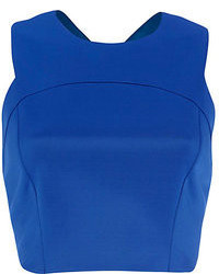 River Island Blue Cross Back Crop Top