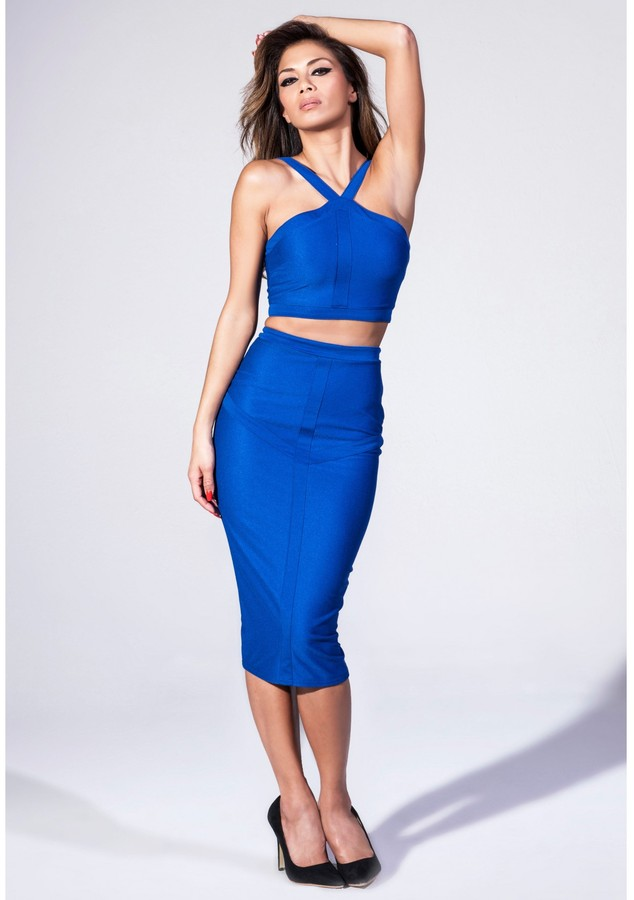 Missguided Panelled Crop Top In Cobalt Blue Where To Buy
