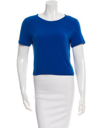 Alice + Olivia Scoop Neck Cropped T Shirt
