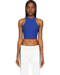 Alexander Wang T By Blue Stretch Tech Cropped Top