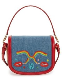 Olympia Le-Tan Dutchies Crossbody Bag Blue