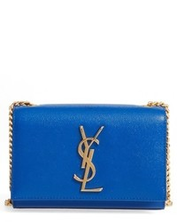 Saint Laurent Small Monogram Crossbody Bag Blue