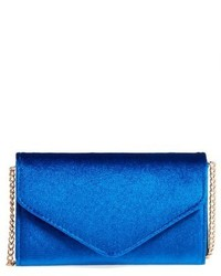 Amici Accessories Velvet Envelope Crossbody Bag Blue