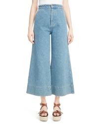 Loewe Crop Wide Leg Jeans