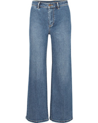 Vince Cropped High Rise Wide Leg Jeans