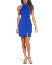 La Femme Cutout Strappy Back Body Con Dress
