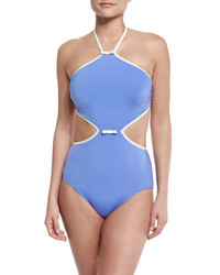 Kate Spade New York Plage Du Midi Cutout One Piece Swimsuit Adventure Blue