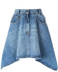 Moschino Asymmetric Denim Skirt