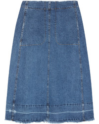 Sea Denim Midi Skirt