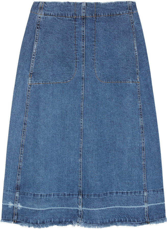 Sea Denim Midi Skirt | Where to buy & how to wear