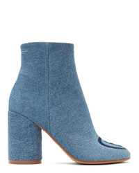 MM6 MAISON MARGIELA Blue Denim 6 Ankle Boots