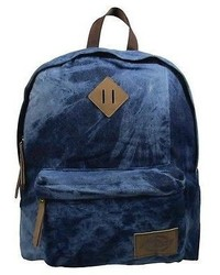 Dickies Printed Classic Canvas Backpack Handbag With Front Zip Pocket Blue