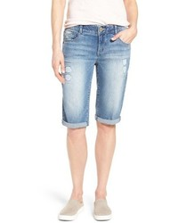 Petite ab solution ripped denim bermuda shorts medium 3830097
