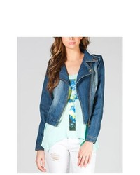 Jou Jou Denim Biker Jacket