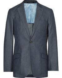 Blue slim fit denim suit jacket medium 3941777