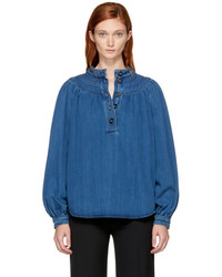 Chloé Indigo Denim Blouse