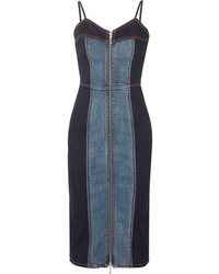 Current/Elliott The Jacqueline Two Tone Stretch Denim Dress