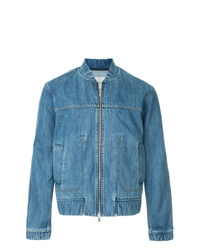 Blue Denim Bomber Jacket