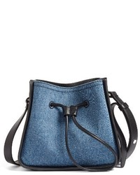 3.1 Phillip Lim Mini Soleil Denim Leather Bucket Bag Blue