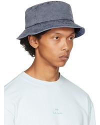 Ps By Paul Smith Navy Denim Bucket Hat