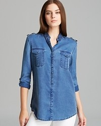 Burberry Brit Denim Button Down Top