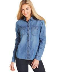 Button down denim shirt medium 72770