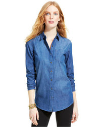 Tommy Hilfiger Medium Wash Denim Shirt