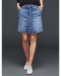 Gap 1969 Denim Skirt Button Front