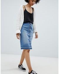 Jdy Button Denim Skirt