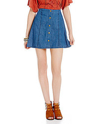 Coco Jameson Denim Button Front Skirt