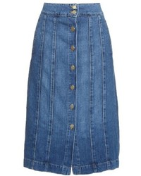 Le panel midi denim skirt medium 536261