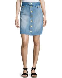 Isabel Marant Odelle Button Down Denim Skirt