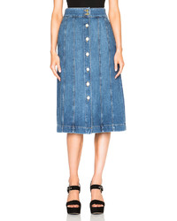 Frame Denim Panel Skirt