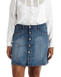 Plus Size Refuge Collection Denim Skirt