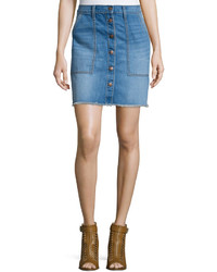 Current/Elliott The Naval Denim Skirt Blue Collar