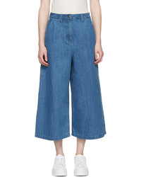 Blue denim culottes medium 3753836