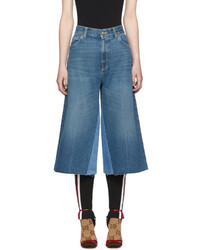 Blue denim culottes medium 5363537