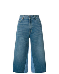 Gucci Butterfly Patch Cropped Jeans