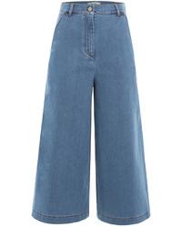 Fendi Cropped Denim Culottes