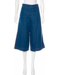 Stella McCartney Denim Wide Leg Culottes W Tags