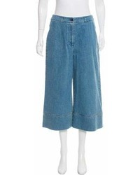 Michael Kors Michl Kors High Rise Denim Culottes