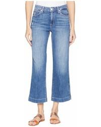 Paige Nellie Culotte W Contrast Stitch In Indigopink Stitch Jeans