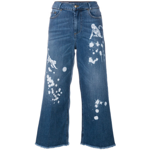 b29aa271ef7 ... Culottes RED Valentino Paint Splash Cropped Jeans ...