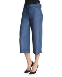 NYDJ Straight Leg Culotte Pants Denim