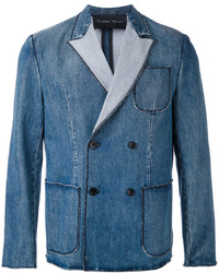 Christian Pellizzari Denim Double Breasted Jacket