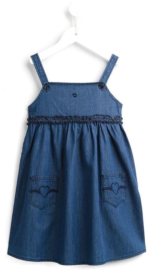 Armani Junior Ruffled Denim Dress