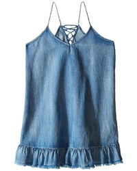 Blank Nyc Kids Ruffle Denim Dress